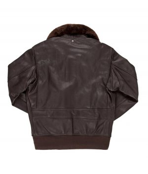 Kenneth Mens G-1 Flight Bomber Jacket with Removable Collar