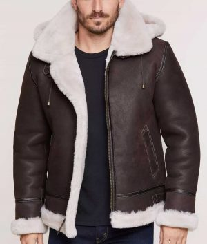 Lawrence Mens Classic Sheepskin Jacket