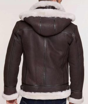 Lawrence Mens Classic Sheepskin B-3 Jacket