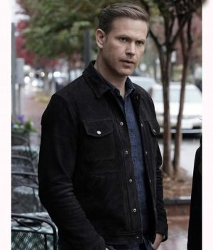 Alaric Saltzman Legacies Mathew Davis Suede Leather Jacket