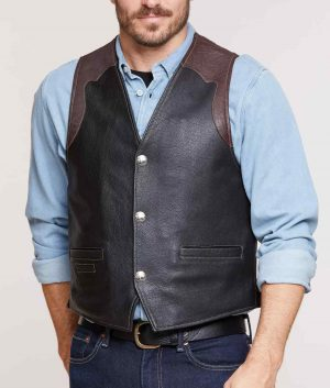 Leonard Mens Leather Vest