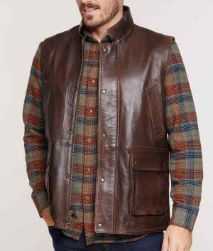 Martin Mens Leather Vest