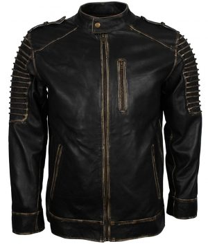 Mens Suicide Squad Joker Black Biker Jacket
