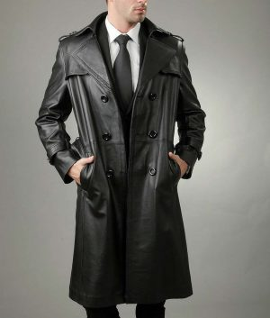 Michael Mens Genuine Real Soft Lambskin Leather Coat