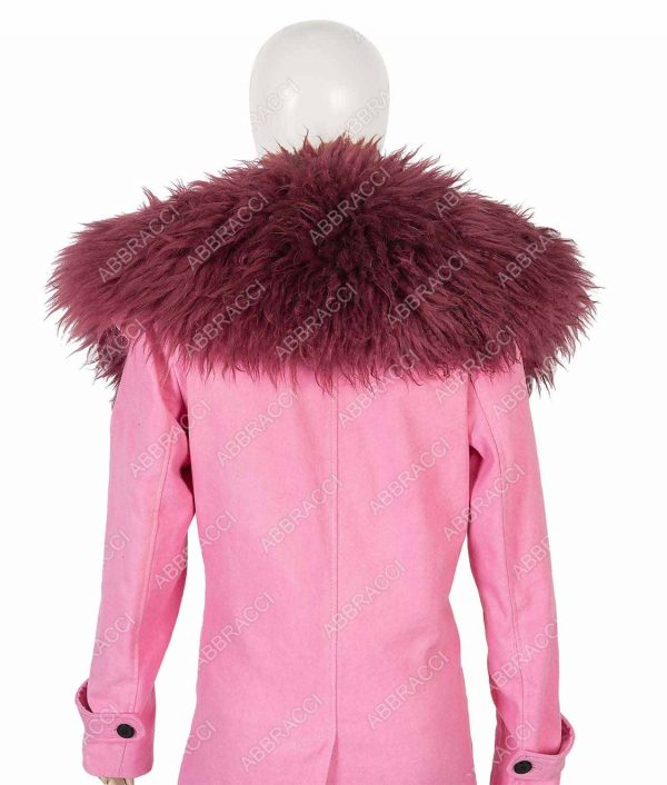 Anne Hathaway Modern Love Pink Fur Collar Lexi Coat
