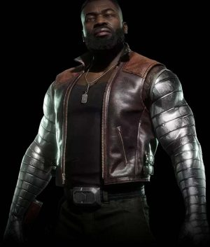Mortal Kombat 11 Jax Briggs Brown Leather Vest