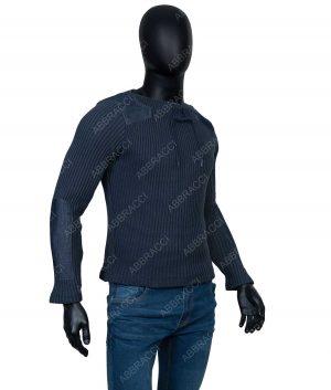 Daniel Craig No Time To Die James Bond Blue Cashmere Sweater