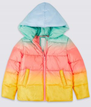 No Time To Die Puffer Ombre Hooded Jacket