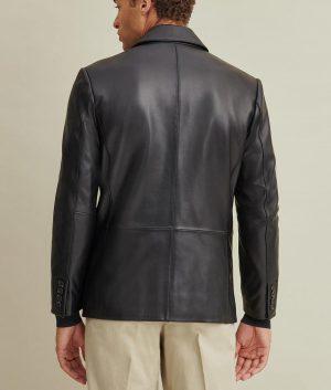 Paul Mens Two Button Genuine Leather Blazer