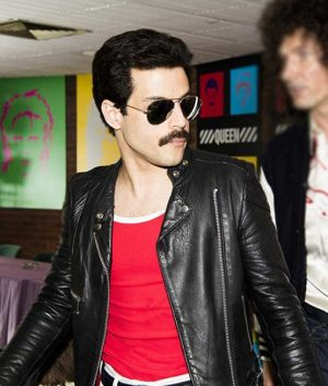 Bohemian Rhapsody Freddie Mercury Black Leather Racer Jacket