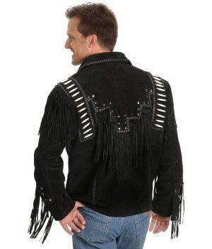 Reynaldo Mens Turn Down Collar Suede Leather Jacket