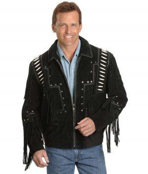 Reynaldo Mens Turn Down Collar Leather Jacket