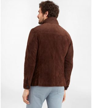 Roberto Mens Brown Suede Jacket