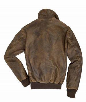 Robinson Mens Mustang Genuine Leather A-2 Bonber Jacket