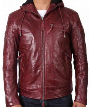 Roland Mens Hooded Style Maroon Jacket