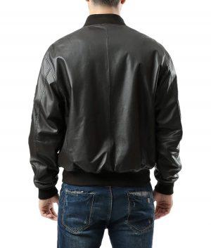 Ronald Mens MA1 Leather Jacket