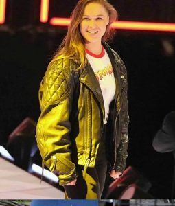 Ronda Rousey Bomber Leather Jacket