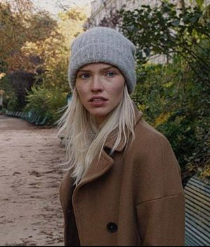 Sasha Luss Anna Brown Wool-Blend Trench Coat