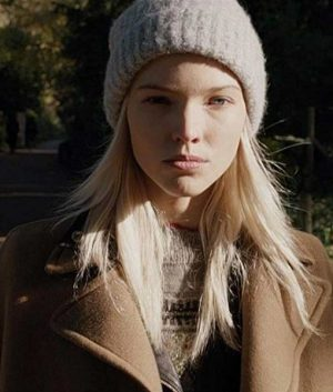 Sasha Luss Anna Brown Coat
