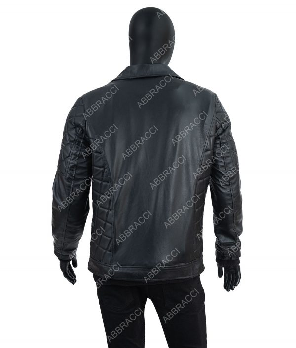 Seth Rollins Fur Collar Black Leather Jacket