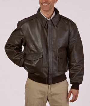 Singley Mens Classic Leather A-10 Jacket