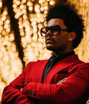The Weeknd Blinding Lights Red Coat