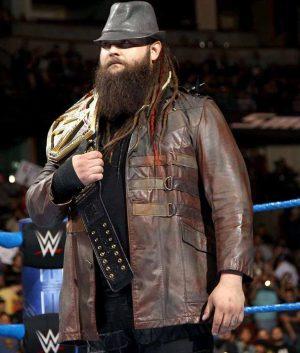 WWE Bray Wyatt Wrestler Brown Leather Jacket