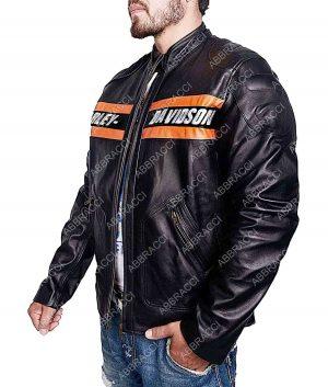 Bill Goldberg WWE Harley Davidson Vintage Biker Black Leather Jacket
