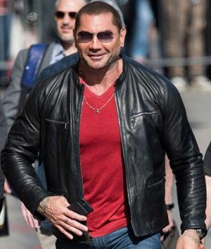 WWE Superstar Batista Black Biker Jacket