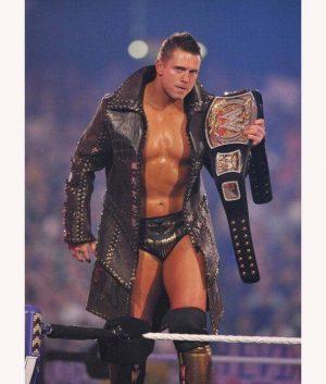 WWE The Miz Michael Gregory Mizanin Black Studded Trench Coat