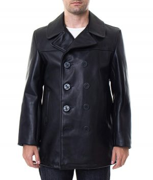 Walker Mens Lamskin Leather Coat