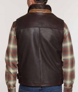 Walter Mens Lamskin Leather Vest