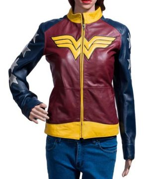 Wonder Woman Diana Prince Leather Jacket