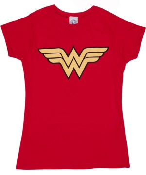 Wonder Woman Logo Red T-Shirt
