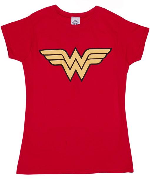 Wonder Woman Logo Red T-Shirt
