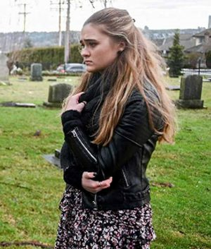 A Million Little Things Lizzy Greene Black Sophie Dixon Leather Jacket