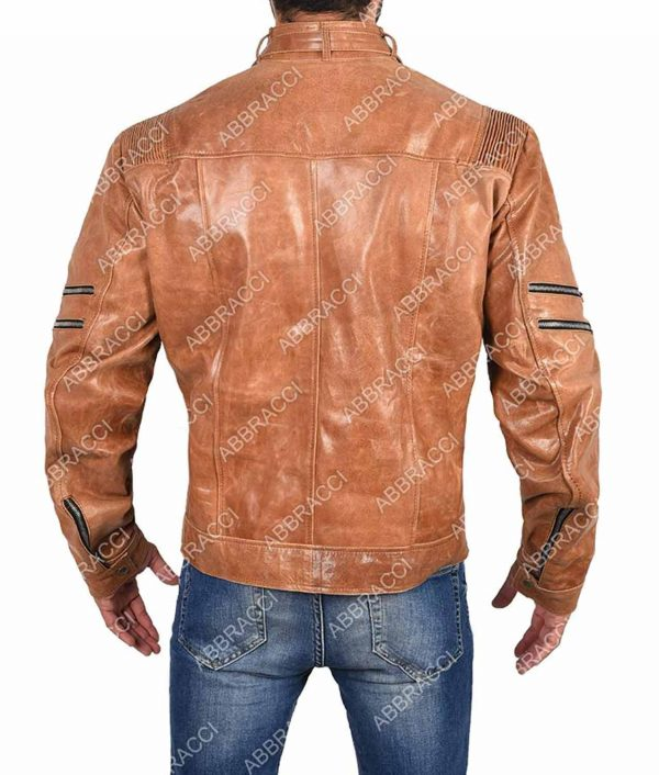 Arrow Bronze Tiger Leather Jacket