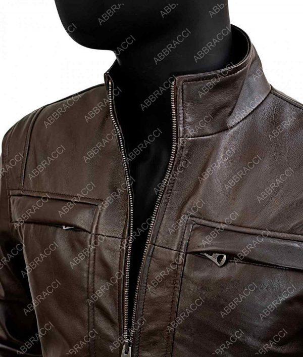 Arrow Season 4 Brown Leather John Diggle Jacket