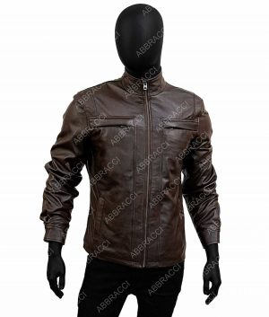 Arrow Season 4 David Ramsey Brown Leather John Diggle Jacket