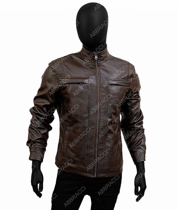 Arrow Season 4 David Ramsey Brown Leather John Diggle Jacket