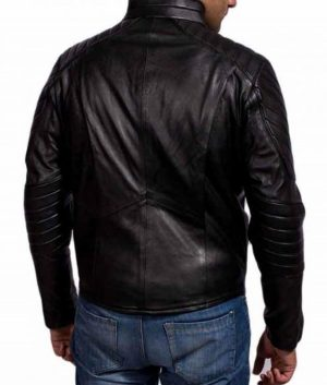 Batman Begins Bruce Wayne Black Leather Jacket