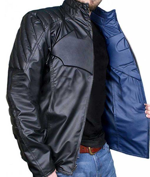Batman V Superman Dawn of Justice Reversible Leather Jacket