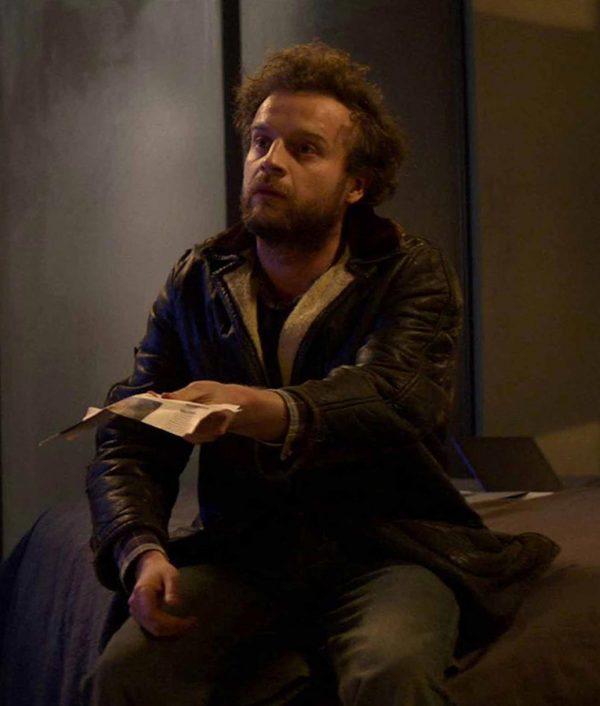 TV-Series Black Mirror S04 Crocodile Andrew Gower Rob Leather Jacket