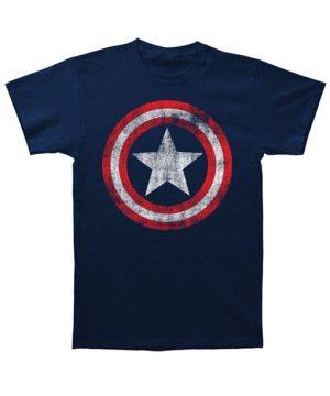 Captain America Shield Logo Blue T-Shirt