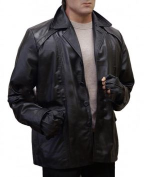 Sylvester Stallone Creed 2 Rocky Balboa Black Leather Coat