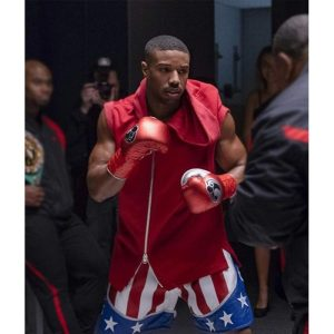 Creed II Adonis Johnson Hooded Red Vest
