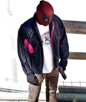 Deadpool 2 Wade Wilson Black Satin Track Jacket