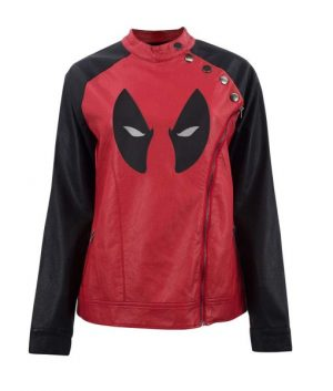 Deadpool Wade Wilsom Eye Logo Womens Jacket