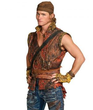 Dylan Playfair Descendants 2 Gil Brown Leather Vest