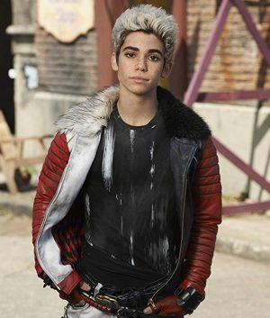 Cameron Boyce Disney Descendants Carlos Shearling Leather Jacket